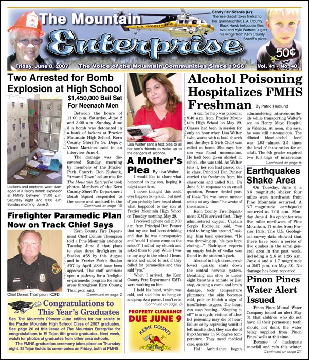 The Mountain Enterprise June 08, 2007 Edition