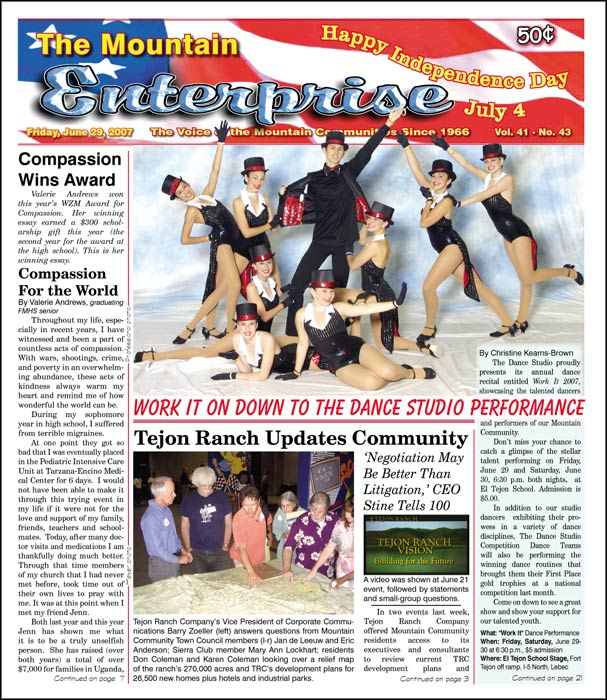 The Mountain Enterprise June 29, 2007 Edition