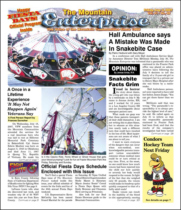 The Mountain Enterprise August 03, 2007 Edition