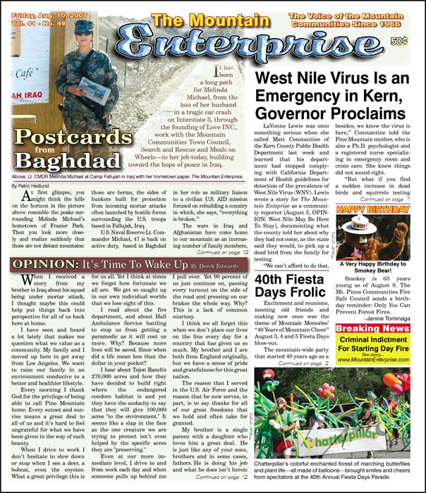 The Mountain Enterprise August 10, 2007 Edition