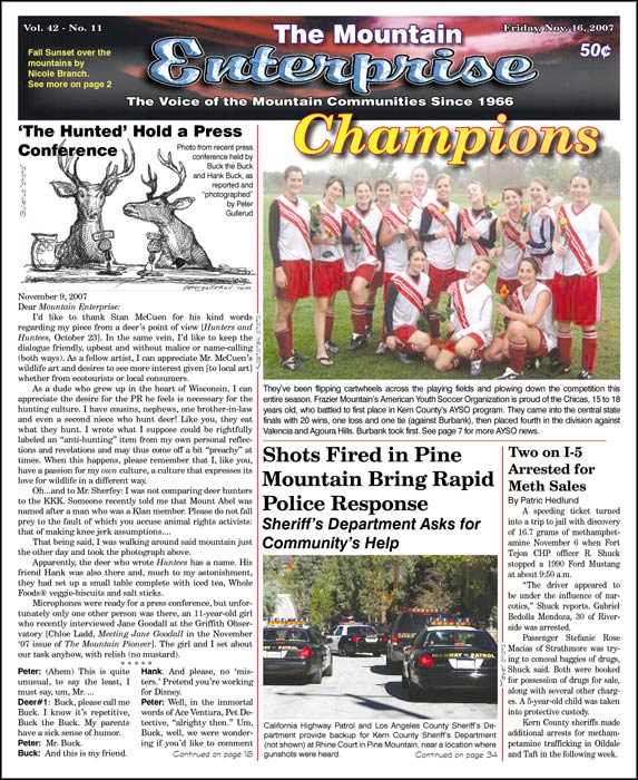 The Mountain Enterprise November 16, 2007 Edition