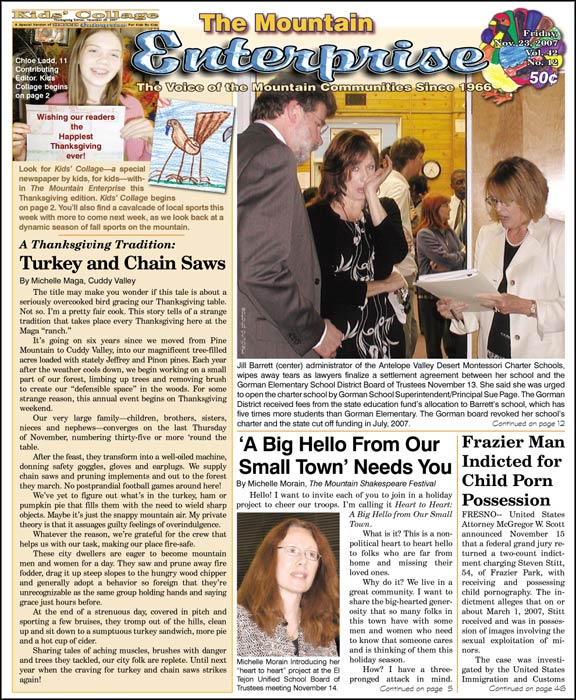 The Mountain Enterprise November 23, 2007 Edition
