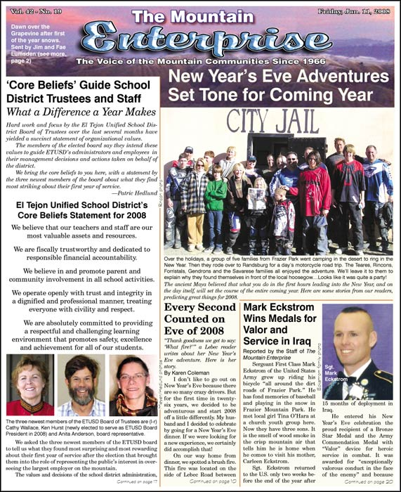 The Mountain Enterprise January 11, 2008 Edition