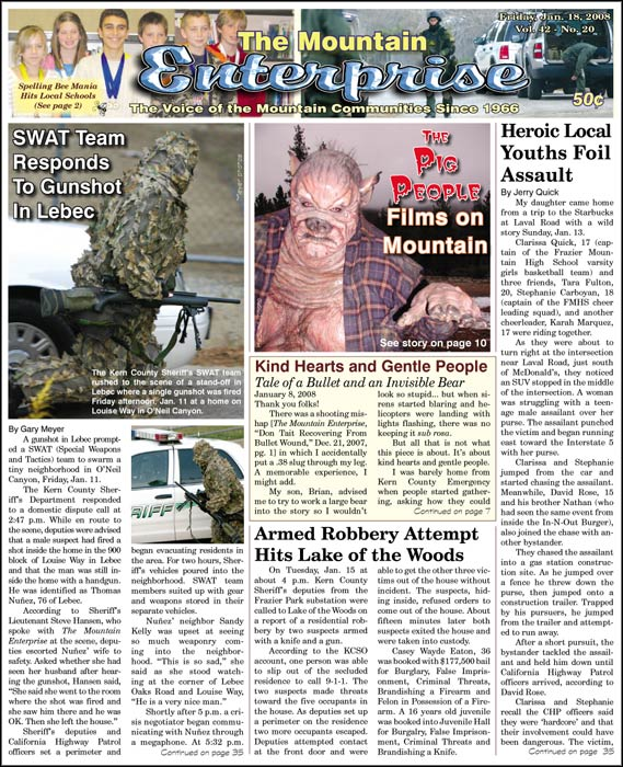 The Mountain Enterprise January 18, 2008 Edition