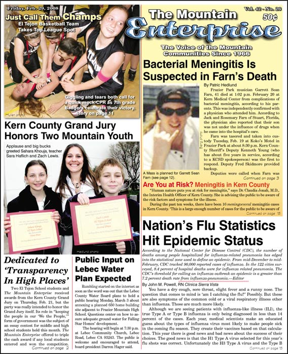 The Mountain Enterprise February 29, 2008 Edition
