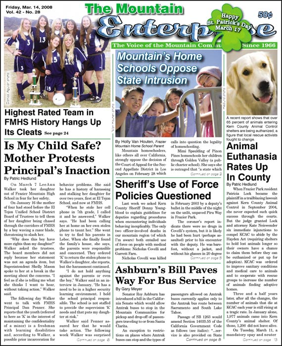 The Mountain Enterprise March 14, 2008 Edition