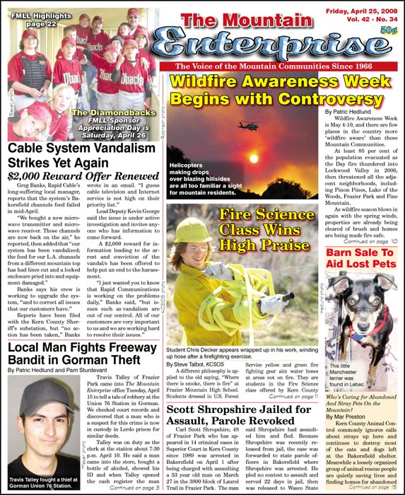 The Mountain Enterprise April 25, 2008 Edition