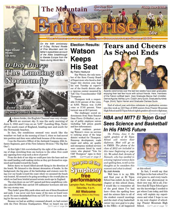 The Mountain Enterprise June 06, 2008 Edition