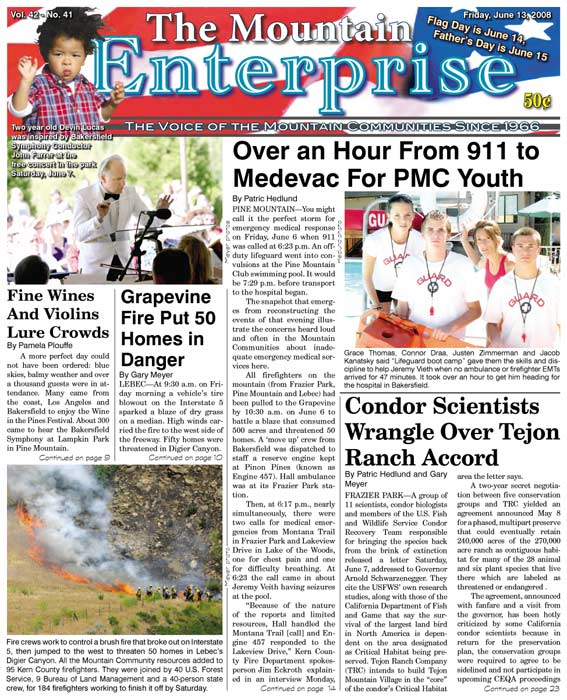 The Mountain Enterprise June 13, 2008 Edition