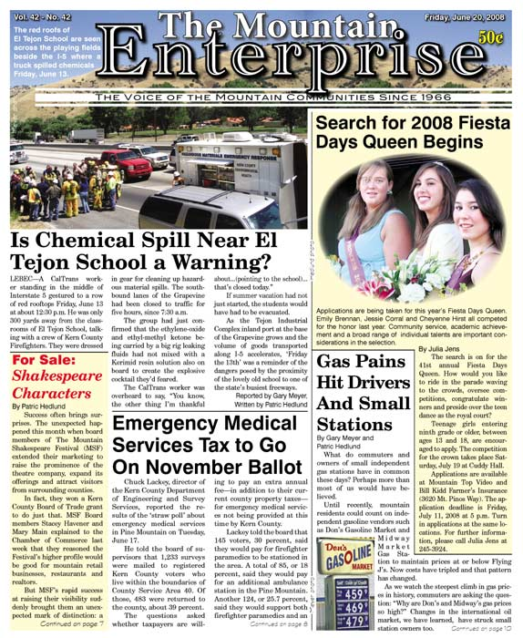 The Mountain Enterprise June 20, 2008 Edition