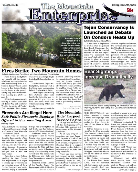 The Mountain Enterprise June 27, 2008 Edition