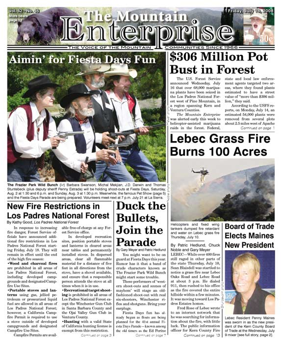 The Mountain Enterprise July 18, 2008 Edition