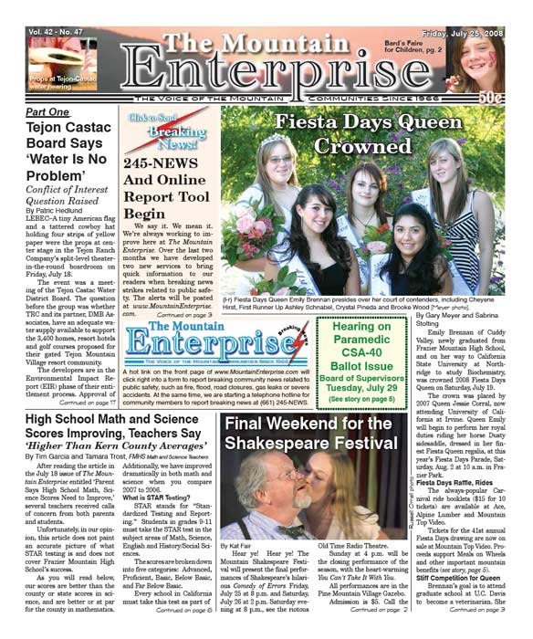 The Mountain Enterprise July 25, 2008 Edition