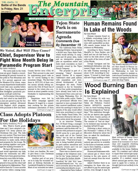 The Mountain Enterprise November 21, 2008 Edition