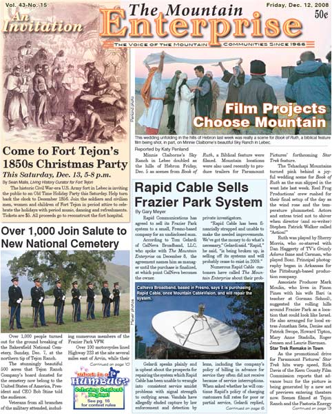 The Mountain Enterprise December 12, 2008 Edition