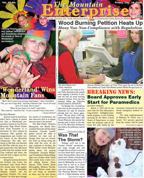The Mountain Enterprise December 19, 2008 Edition