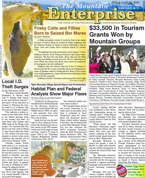 The Mountain Enterprise April 10, 2009 Edition