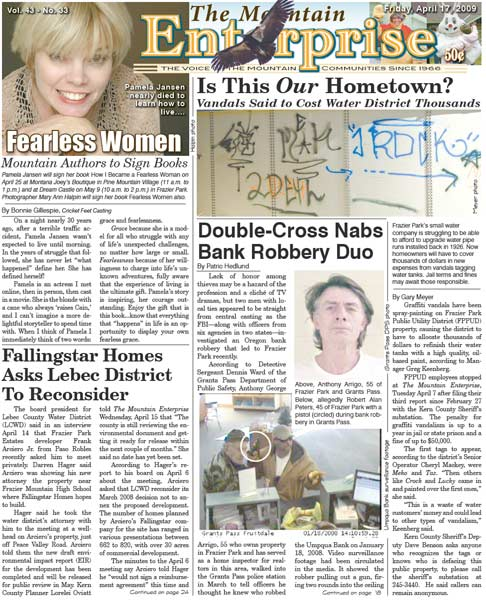 The Mountain Enterprise April 17, 2009 Edition
