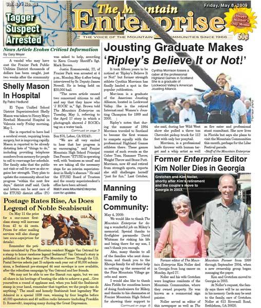 The Mountain Enterprise May 08, 2009 Edition