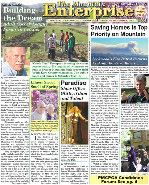 The Mountain Enterprise May 15, 2009 Edition