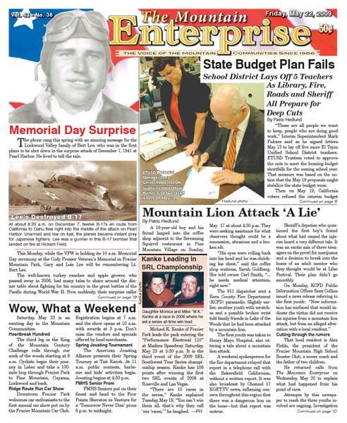 The Mountain Enterprise May 22, 2009 Edition