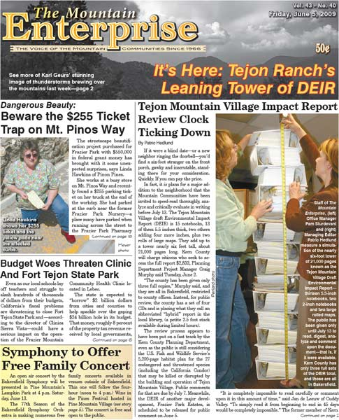 The Mountain Enterprise June 05, 2009 Edition