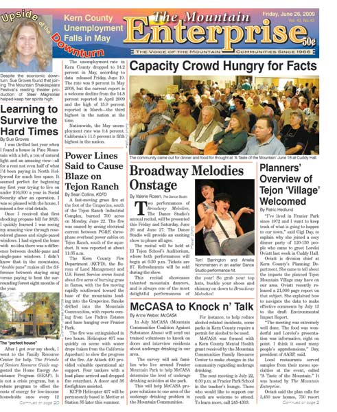The Mountain Enterprise June 26, 2009 Edition