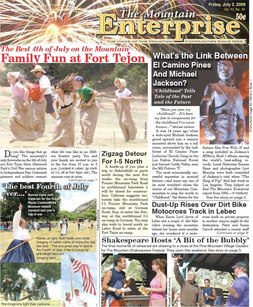 The Mountain Enterprise July 03, 2009 Edition