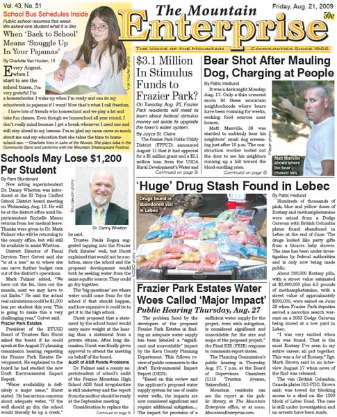 The Mountain Enterprise August 21, 2009 Edition