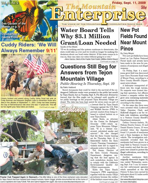 The Mountain Enterprise September 11, 2009 Edition