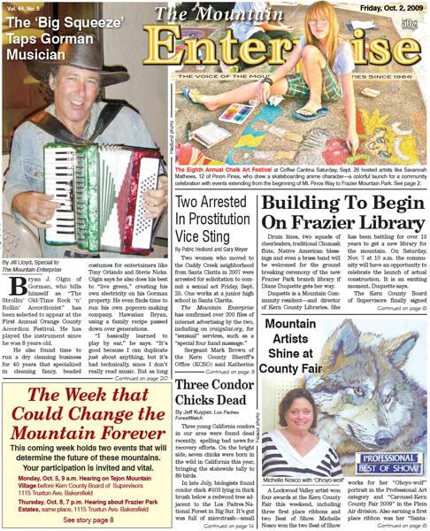 The Mountain Enterprise October 02, 2009 Edition