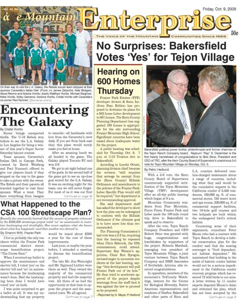 The Mountain Enterprise October 09, 2009 Edition