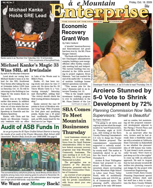 The Mountain Enterprise October 16, 2009 Edition