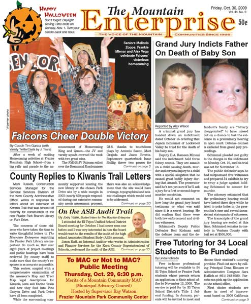 The Mountain Enterprise October 30, 2009 Edition