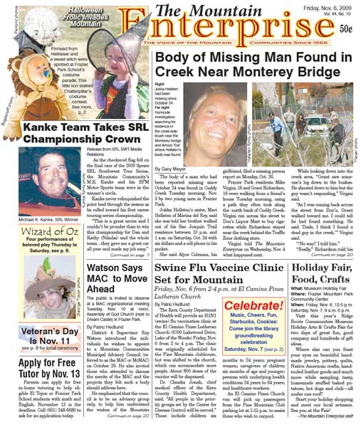 The Mountain Enterprise November 06, 2009 Edition