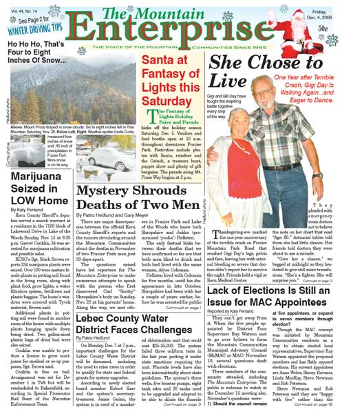 The Mountain Enterprise December 04, 2009 Edition