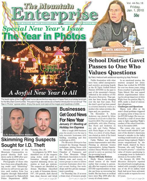 The Mountain Enterprise January 01, 2010 Edition