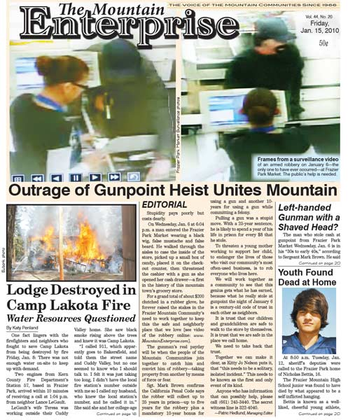 The Mountain Enterprise January 15, 2010 Edition
