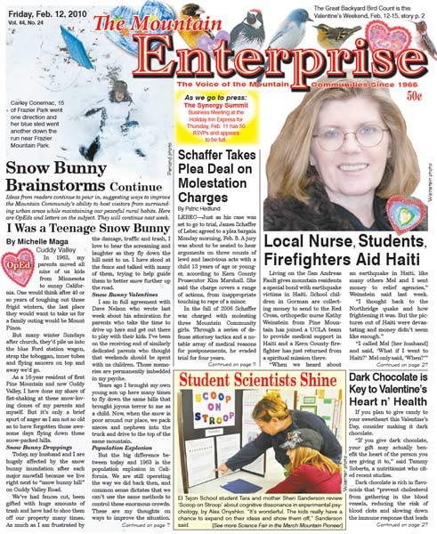 The Mountain Enterprise February 12, 2010 Edition