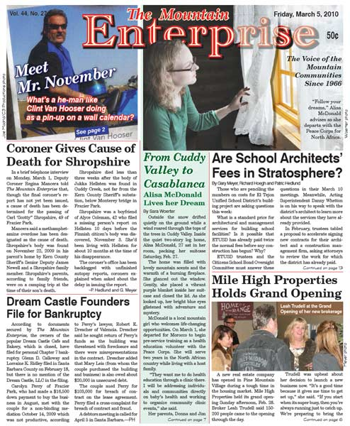 The Mountain Enterprise March 05, 2010 Edition