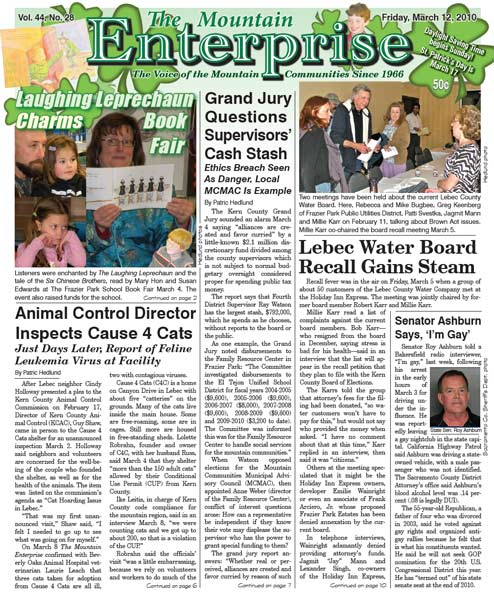 The Mountain Enterprise March 12, 2010 Edition