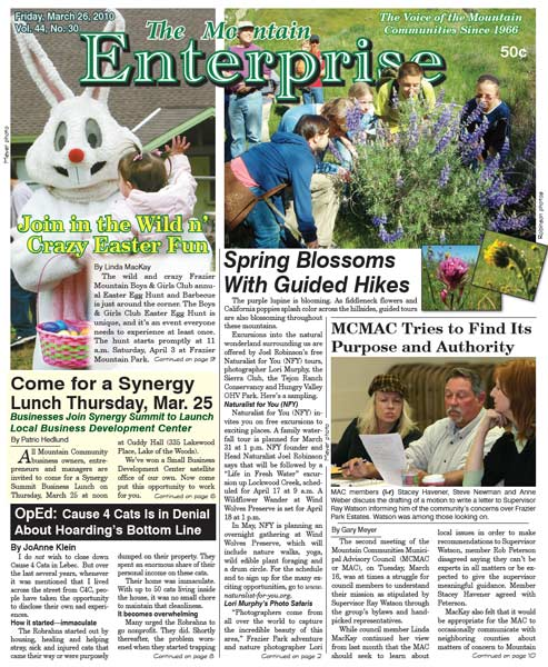 The Mountain Enterprise March 26, 2010 Edition