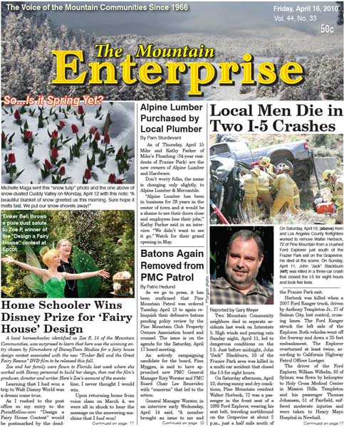 The Mountain Enterprise April 16, 2010 Edition