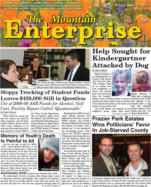 The Mountain Enterprise April 23, 2010 Edition
