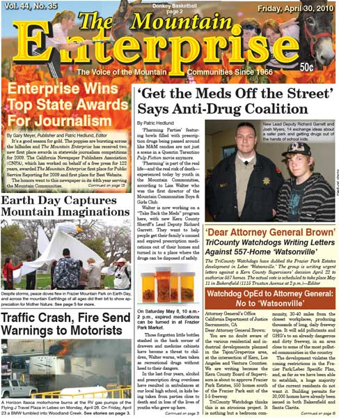 The Mountain Enterprise April 30, 2010 Edition