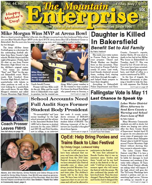 The Mountain Enterprise May 07, 2010 Edition