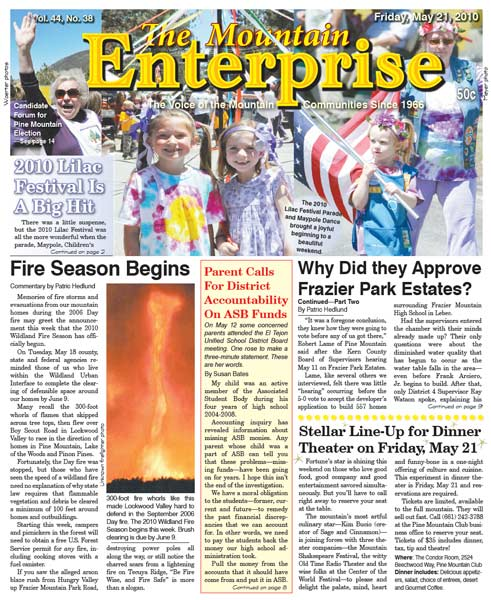 The Mountain Enterprise May 21, 2010 Edition