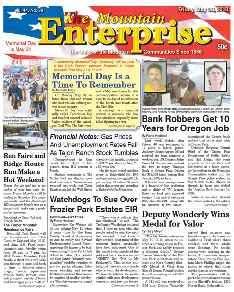 The Mountain Enterprise May 28, 2010 Edition