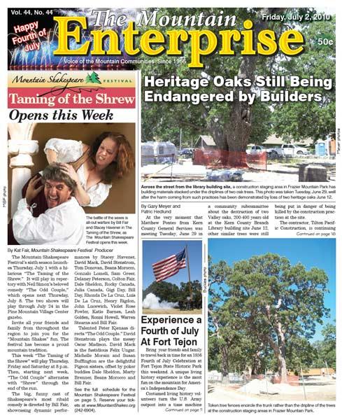 The Mountain Enterprise July 02, 2010 Edition