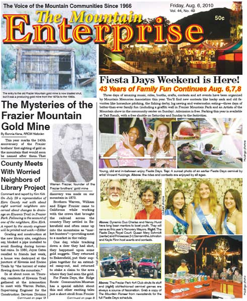 The Mountain Enterprise August 06, 2010 Edition